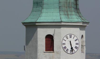 Častá, veža, hodiny