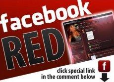 Červený Facebook
