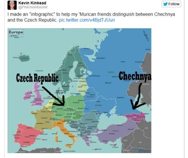 Chechnya idioti v USA