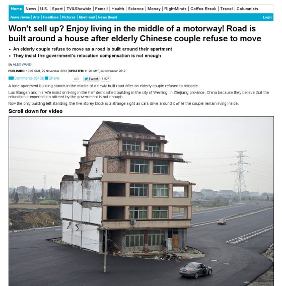 Čínsky dom na Daily mail