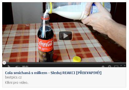 Cola a mlieko podvod