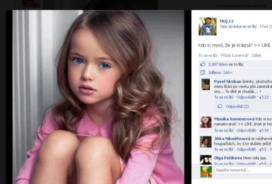 Tento týden nejvíc zneužívané dítě na Facebooku - 7 letá Ruska Kristína
