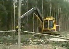Terminátor na drevo, stroj