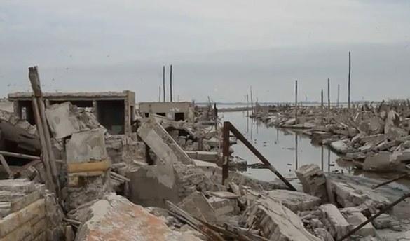 Argentínske zatopené mesto Epecuen, zdroj Youtube