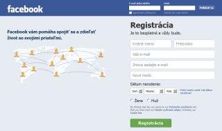 Facebook hlavné stránky sociálnej siete