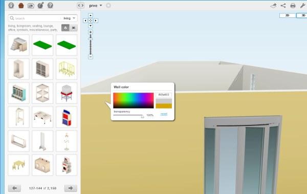 Floor planner aplikácia na návrh interiéru