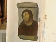 Zreštaurovaná freska Ježiša Krista