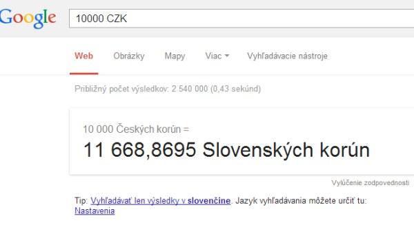 Google konvertor mien
