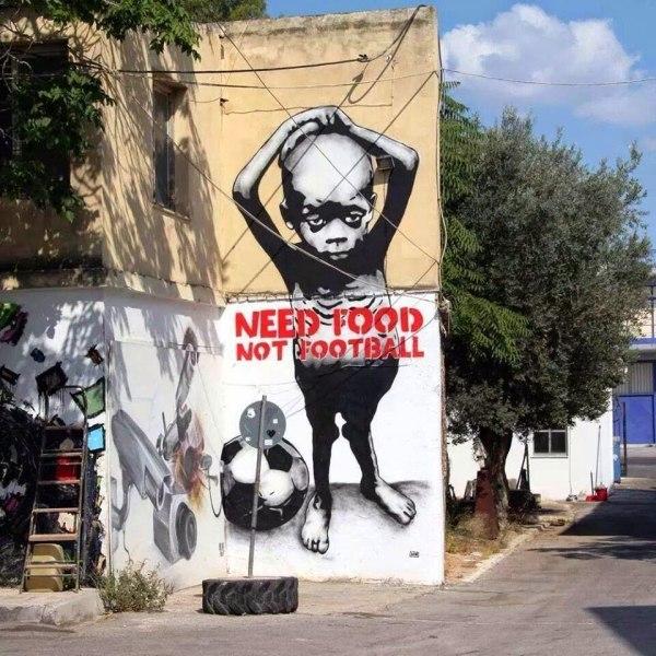 grafity protest Brazília 2014