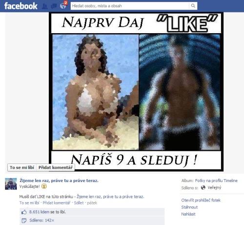 Hlúposti na Facebooku