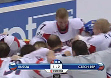 Hokejové majstrovstvá CZE 2:1 RUS
