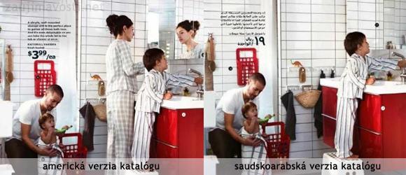 Katalóg IKEA v Saudskej Arábií retušovali