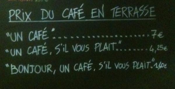 Káva slušnosť Nice