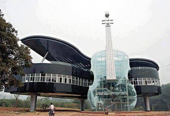 Klavír husle Čína dom