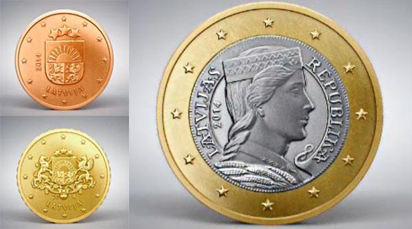 lotyšsko euromince