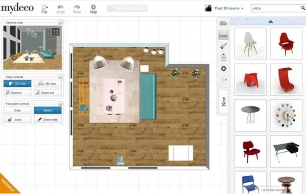 Aplik cie na n vrh interi ru domov aj n bytku mydeco 3d Design my room online