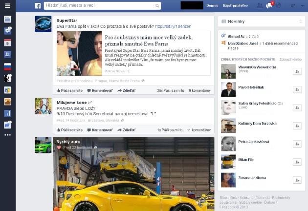 Novy facebook 2013