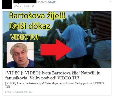 Podvod Bartošová žije