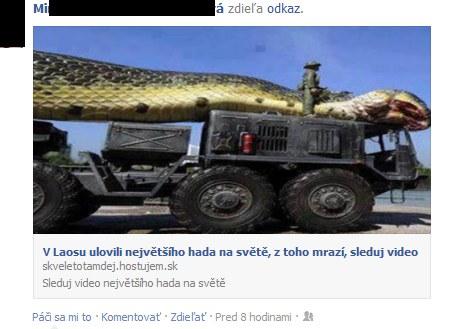 Podvod s veľkým hadom