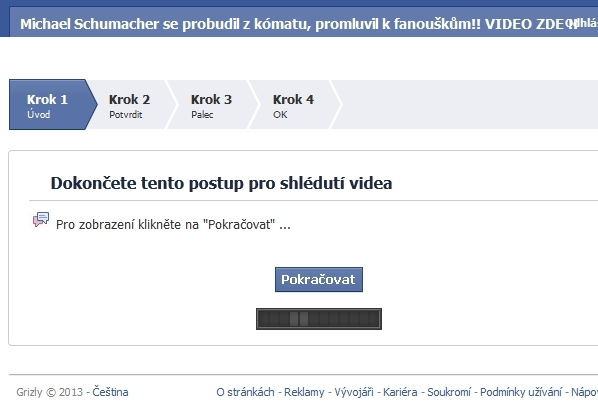 Podvodný facebook a Schumacher