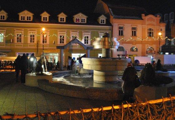 Poprad a predaj kaprov z fontány